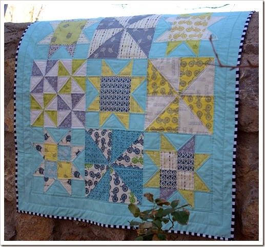 Pinwheels and Stars Baby Quilt 3