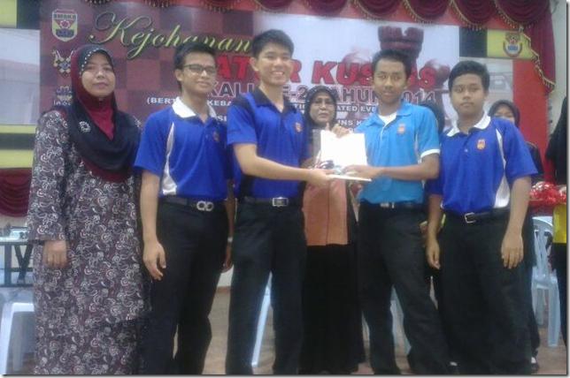Naib Johan Menengah Pasukan SM Sains Selangor