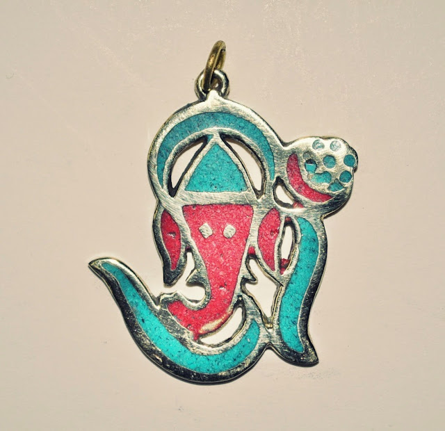 Ganesh White Metal Pendant
