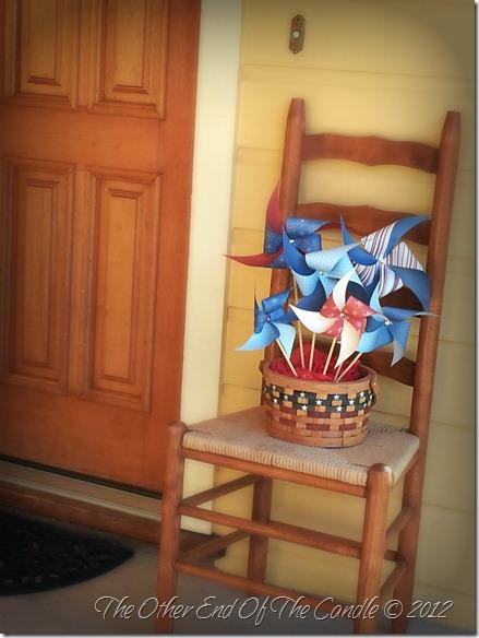 Patriotic Porch Pinwheels 2012