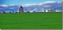 église de Dormelle à l'horizon