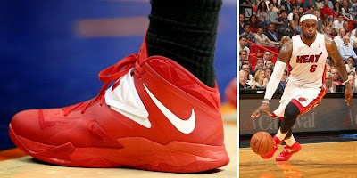 nike zoom soldier 7 pe timeline 140428 shoe soldier7 redwhite King James and His 26 Different Nike Zoom Soldier VIIs in 2013 14