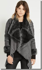Oasis Draped Faux Fur Jacket