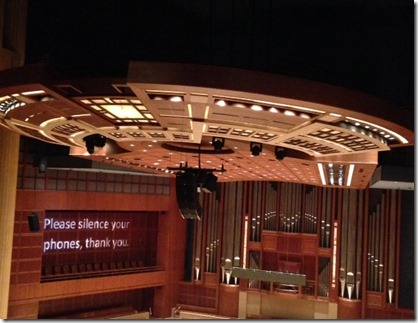 Meyerson Symphony Center Interior Showing the Canopy and Organ