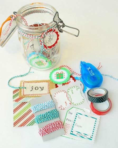 Holiday Mason Jar Gift Tag Kit Hostess Gift - The Silly Pearl