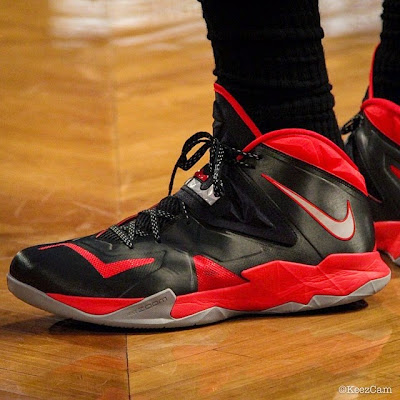 lebron james nba 140512 mia at bkn 03 game 4 LeBron Ties Playoff Career High 49 Points in New Soldier 7 PE