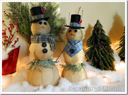 burlap & twine snowmen50
