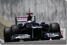 Maldonado nelle qualifiche del gran premio del Brasile 2012