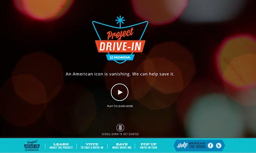Honda project drive in