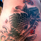 girl black Koi Carp - tattoos ideas