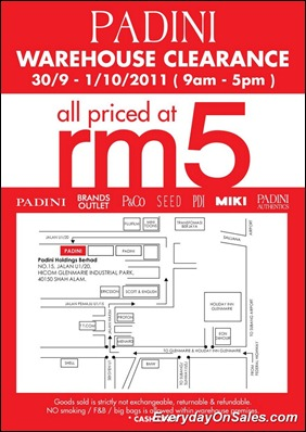 Padini-Warehouse-Clearance-2011-EverydayOnSales-Warehouse-Sale-Promotion-Deal-Discount