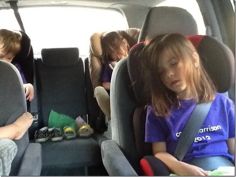 camp harrison sleeping kids!