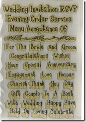 CLEAR WEDDING WORDS