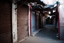 Marrakesz ponownie... pusty. pozamykany z uwagi na święto bazar