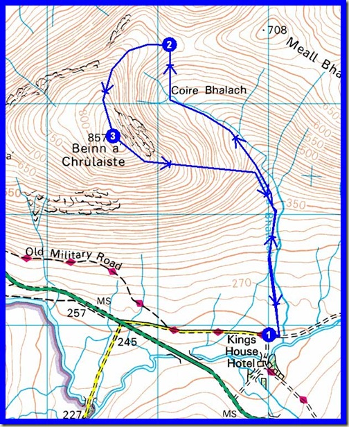 My route - 9 km, 600 metres ascent, 2.5 hours