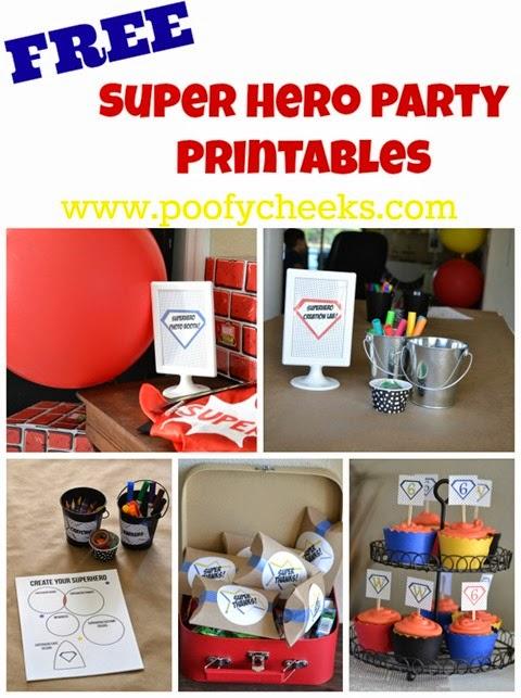 Free Super Hero Party Printables