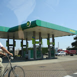 BP gasstation in ijmuiden in Santpoort-Noord, Noord Holland, Netherlands