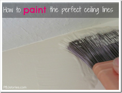 How to paint ceiling lines