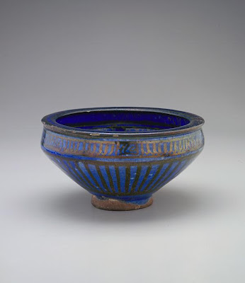 Bowl | Origin:  Iran | Period: late 14th century  Il-Khanid period | Details:  Not Available | Type: Stone-paste painted under glaze and over glaze with luster | Size: H: 10.9  W: 20.6  cm | Museum Code: F1909.314 | Photograph and description taken from Freer and the Sackler (Smithsonian) Museums.