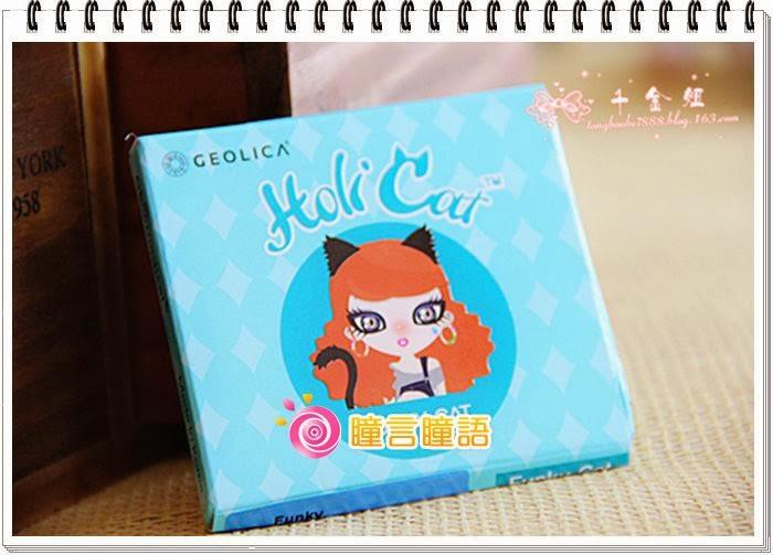 韓國GEO隱形眼鏡-GEO Holicat 荷麗貓時尚藍(Funky Cat)2