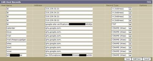 blogger custom domain dns settings