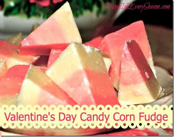 Valentine's Day Candy Corn Fudge