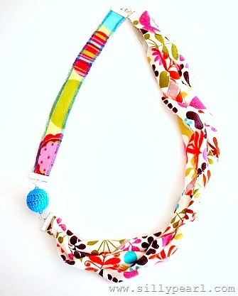 Knit Fabric Necklace