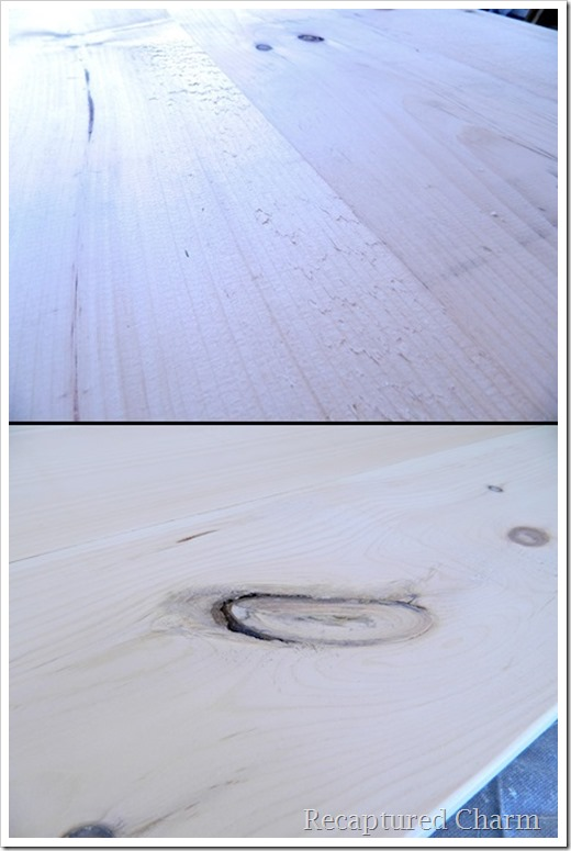 rustic coffee table sanding-vert