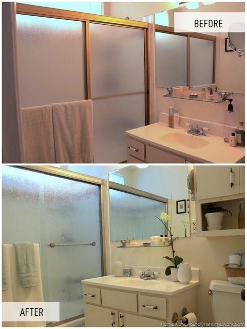 Bathroom makeover giveaway : Extra credit bathroom makeover with delta shower door