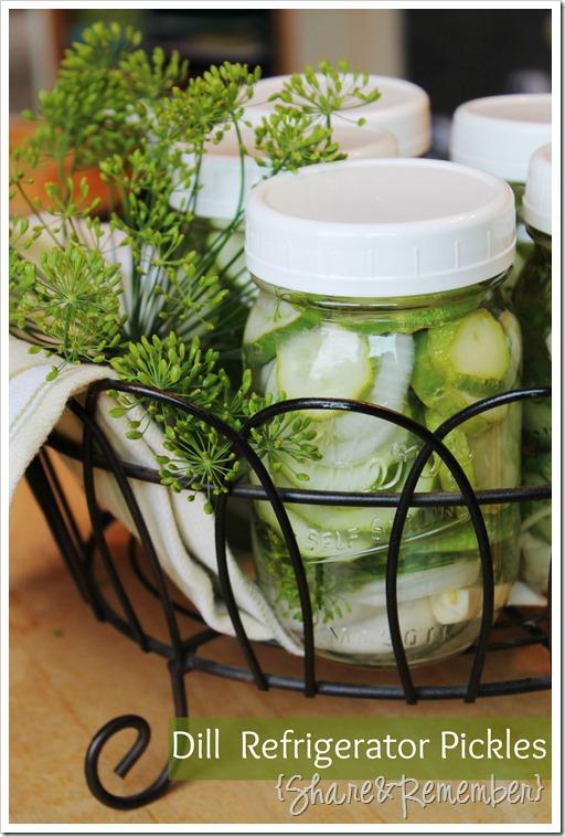 Dill Refrigerator Pickles Recipe