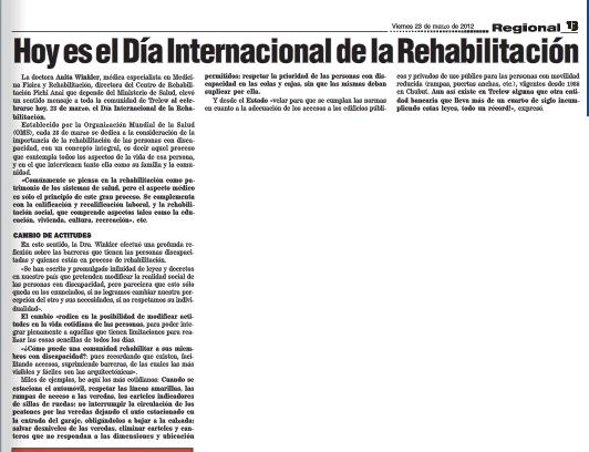 Dia Internacional rehabilitación
