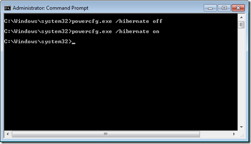 Windows 7 Hibernate Command