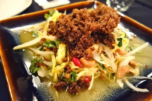 Thai Crispy Fish and Green Mango Salad