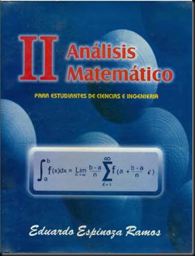 ANÁLISIS MATEMÁTICO II - ESPINOZA RAMOS