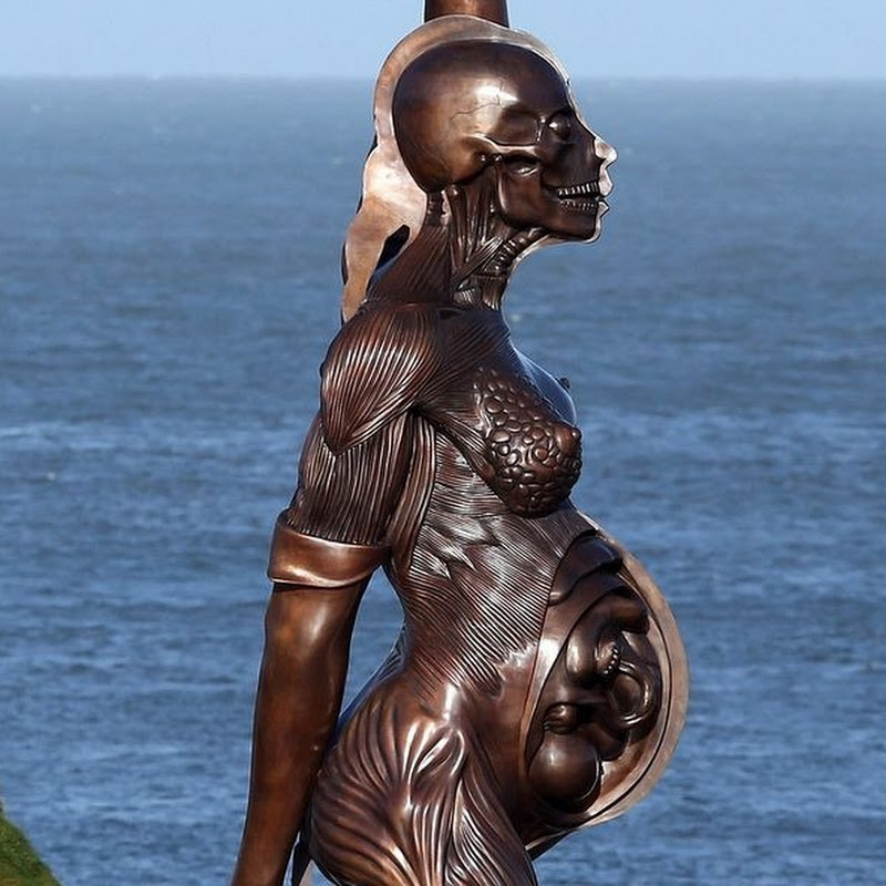 Damien Hirst's Controversial Pregnant Woman Sculpture in Ilfracombe