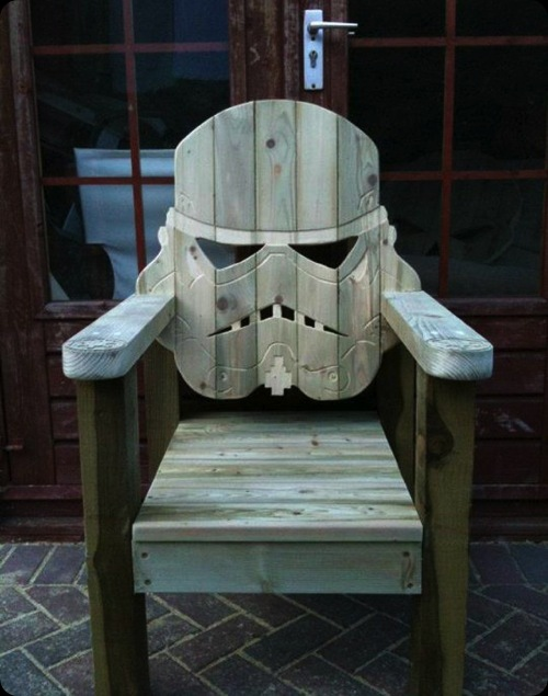 star wars wooden chair