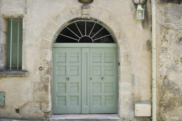 double-green-doors-provence