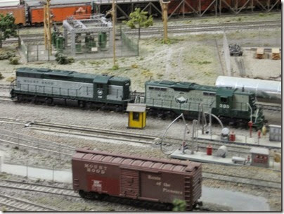 IMG_0400 GP7 #235 & SD9 #450 on the Mount Hood Model Engineers HO-Scale Layout in Portland, Oregon on March 8, 2008