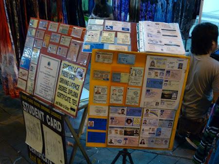 Imagini Thailanda: Legitimatii false Bangkok