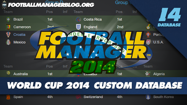 FIFA World Cup 2014 Brazil Custom Database for Football Manager 2014