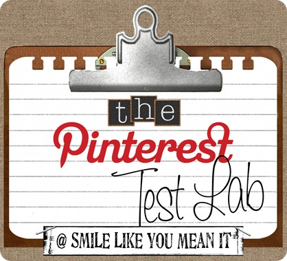 The Pinterest Test Lab button