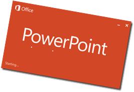 power point start screen
