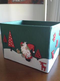 Caja fieltro navidad