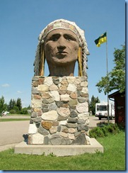 8477 Saskatchewan Trans-Canada Highway 1 Indian Head - Indian Head statue
