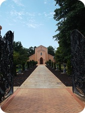 Walk up to the Chapel entrance