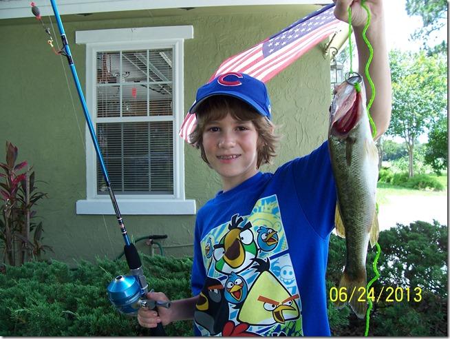 Dallin's 1st fish