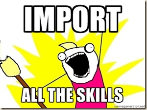 Import all the skills