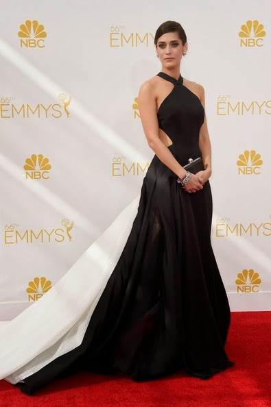 Lizzy Caplan attends the 66th Annual Primetime Emmy Awards (1)