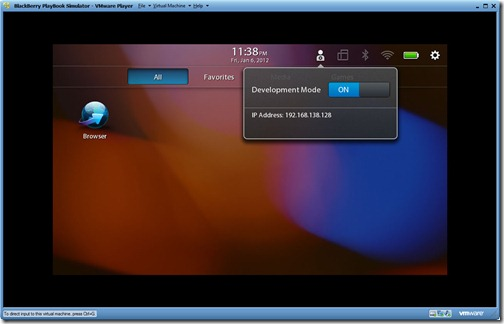 BlackBerry PlayBook Simulator