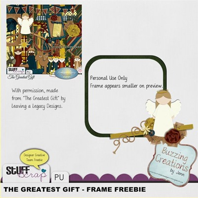 Leaving a Legacy Designs - Greatest Gift - Frame Freebie Preview